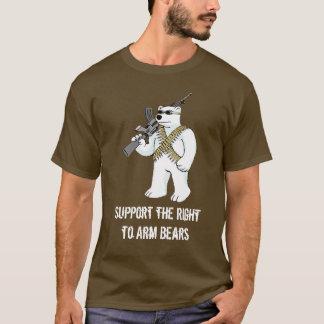Camiseta Apoie o direito de armar os ursos - personalizados
