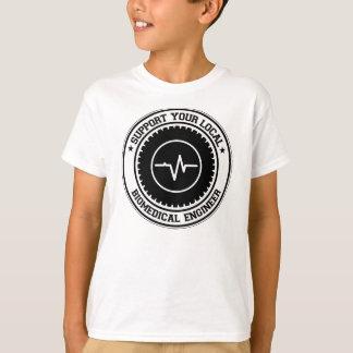 Camiseta Apoie seu engenheiro biomedicável local
