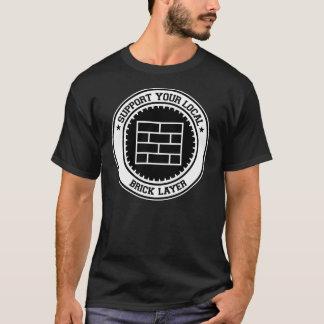Camiseta Apoie sua camada de tijolo local