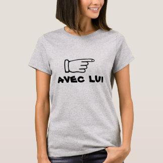 Camiseta Apontando o dedo com o lui do avec do texto