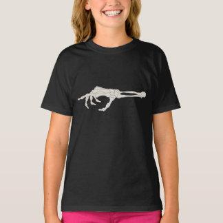 Camiseta Apontar dos ossos de mão