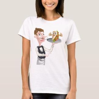 Camiseta Apontar e Kebab do garçom dos desenhos animados