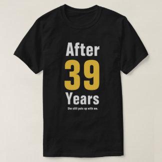 Camiseta Após 39 anos ainda tolerou-me