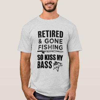 Camiseta Aposentado e ido pescar assim o beijo meu t-shirt