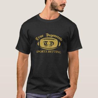 Camiseta Aposta Degenerate verdadeira dos esportes do ouro