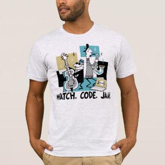 Camiseta App-o-Esteira: Relógio. Código. Doce