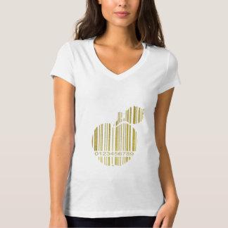 Camiseta Apple dourado