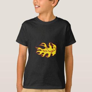 Camiseta Applique da chama