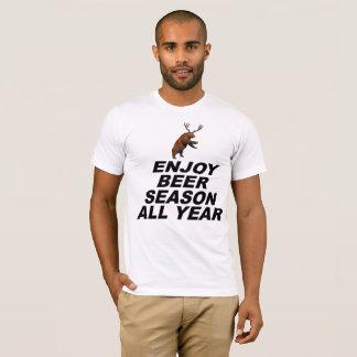Camiseta Aprecie a estação da cerveja todo o ano