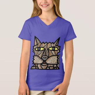 """Camiseta """"Apreenda t-shirt do V-Pescoço das meninas do dia"""""""