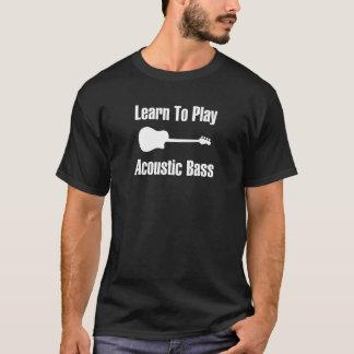 Camiseta Aprenda jogar o baixo acústico