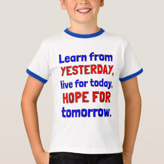 """Camiseta """"Aprenda TShirt da campainha dos meninos de ontem"""""""