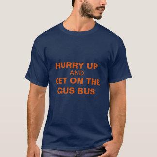 Camiseta APRESSE-SE ACIMA E OBTENHA-SE no azul do t-shirt
