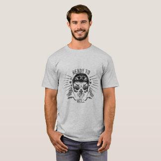 Camiseta Apronte para rolar o crânio do motociclista