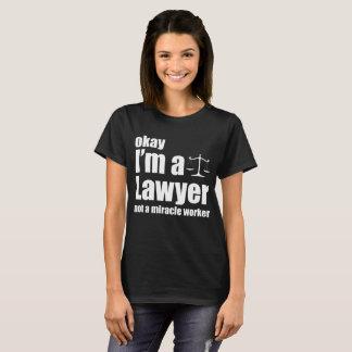 Camiseta Aprovação eu sou um advogado não um t-shirt do