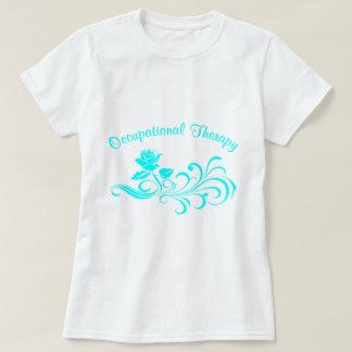 Camiseta aqua cor-de-rosa do rolo do ot