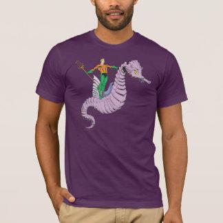 Camiseta Aquaman monta o cavalo marinho