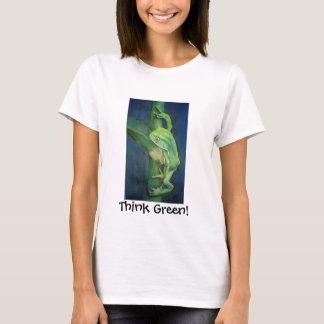 Camiseta Aquecimento global do sapo original do pense verde