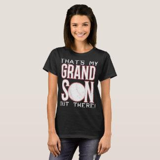 Camiseta Aquele é meu t-shirt do basebol do neto para fora