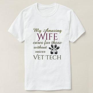 Camiseta Aqueles sem tecnologia do veterinário da esposa
