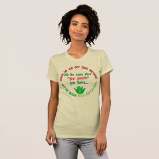 Camiseta AQUI VOCÊ OBTEM SUA PROTEÍNA? T-shirt do _