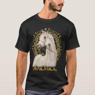 Camiseta árabe cinzenta da obscuridade do cavalo