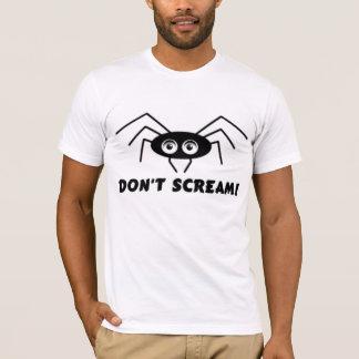 Camiseta Aranha - NÃO GRITE!