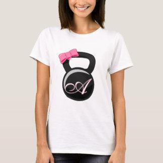 """Camiseta Arco cor-de-rosa Kettlebell Monogrammed """"A """""""