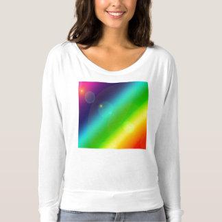 Camiseta Arco-íris borbulhante