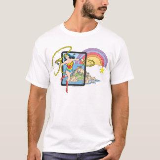 Camiseta Arco-íris da mulher maravilha