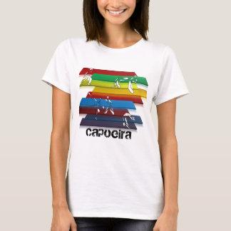 Camiseta arco-íris das artes marciais do capoeira das