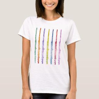 Camiseta Arco-íris das flautas