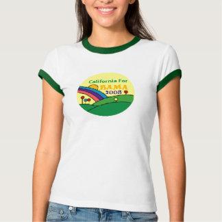 Camiseta Arco-íris de Barack Obama Califórnia
