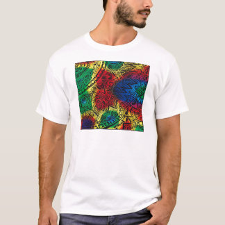 Camiseta Arco-íris de Pawprint