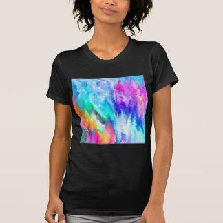 Camiseta Arco-íris de vibração do pulso aleatório