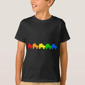 Camiseta arco-íris do skate de rolo
