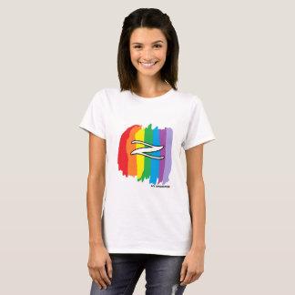 Camiseta Arco-íris do t-shirt da geração Z das mulheres
