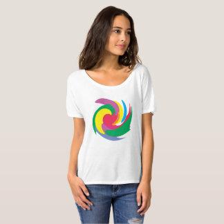Camiseta arco-íris do tornado