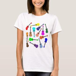 Camiseta Arco-íris do Ukulele