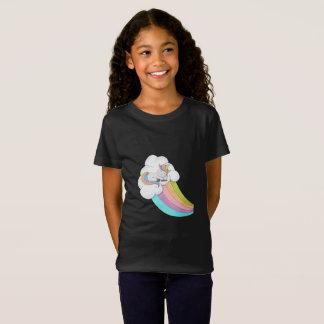 Camiseta Arco-íris do unicórnio