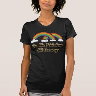 Camiseta Arco-íris dobro toda a maneira