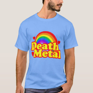 Camiseta Arco-íris engraçado do metal da morte (olhar