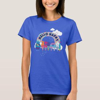 Camiseta Arco-íris feliz dos troll |
