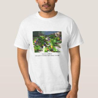 Camiseta Arco-íris Lorikeets