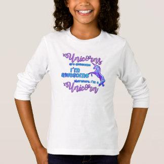 Camiseta Arco-íris Pastel eu sou um unicórnio