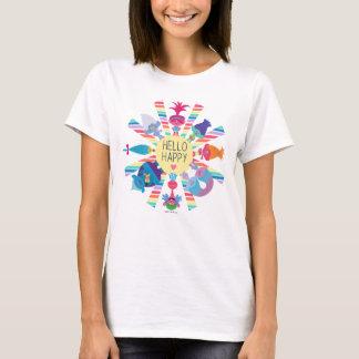 Camiseta Arco-íris Sun do bloco do petisco dos troll |