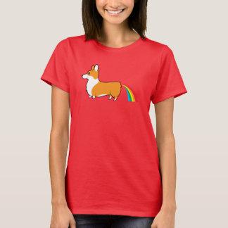 Camiseta Arcos-íris do tombadilho dos Corgis