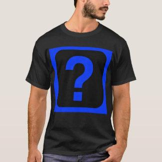 Camiseta Área azul da informação do ponto de interrogação