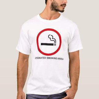 Camiseta Área de fumo designada
