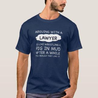 Camiseta Argumentação com um advogado. T-camisa